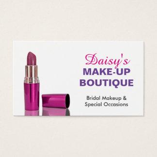 Rouge à lèvres pourpre rose élégant de salon de cartes de visite