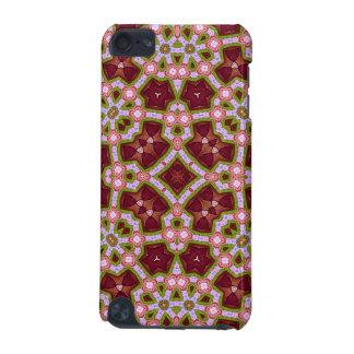 Rouge abstrait multicolore du motif 12 coque iPod touch 5G