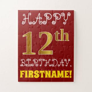 Rouge, anniversaire d'or de Faux 12ème + Puzzle