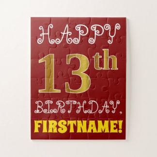 Rouge, anniversaire d'or de Faux 13ème + Puzzle