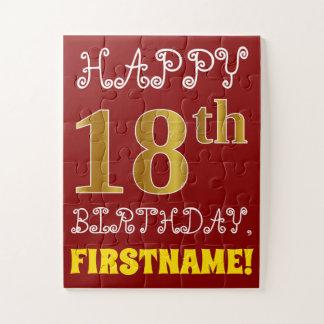Rouge, anniversaire d'or de Faux 18ème + Puzzle