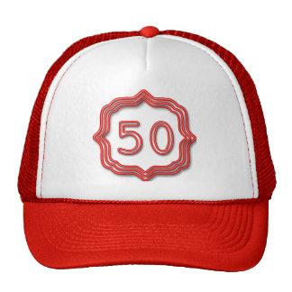 Rouge au néon 50 casquettes