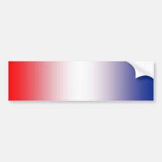 Rouge, blanc et bleu autocollant de voiture