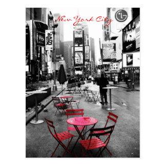 Rouge blanc noir carré de temps cartes postales
