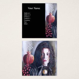 Rouge blanc noir de MAGDALEN ET de GRENADE Carte De Visite Carré
