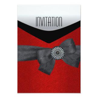 Rouge blanc noir sauvage d'invitation