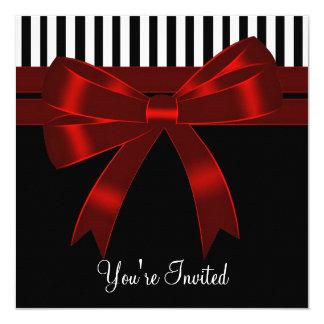 Rouge blanc noir toute la partie d'occasion carton d'invitation  13,33 cm