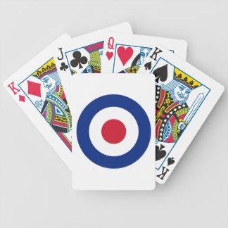 Rouge bleu et blanc de mod jeux de cartes