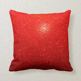 Rouge brillant coussin décoratif