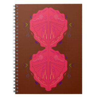 Rouge-brun arabe d'ornements de luxe carnet