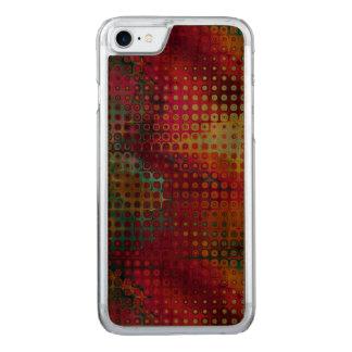 Rouge coloré frais, arc-en-ciel des points coque carved pour iPhone 7