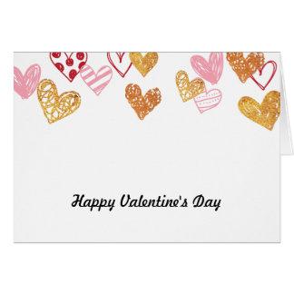 Rouge d'amour et carte de coeurs d'or