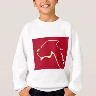 Rouge d'art de chien de flamme sweatshirt