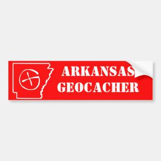 Rouge de balénoptère de l'Arkansas Geocacher Autocollant De Voiture