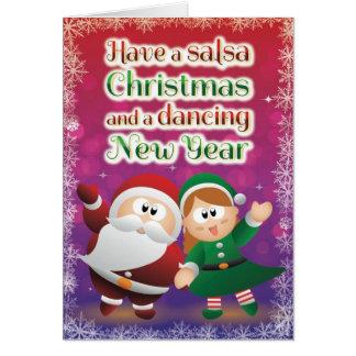 Rouge de carte de Salsa de Noël