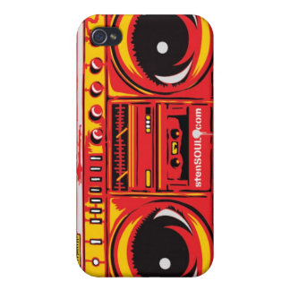 ROUGE de cas d'EYEPhone 4 de caisson de basses Étui iPhone 4