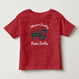 Rouge de chemise de homard de tartan de Bluenoser T-shirt Pour Les Tous Petits