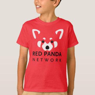 Rouge de chemise de panda rouge d'enfants t-shirt