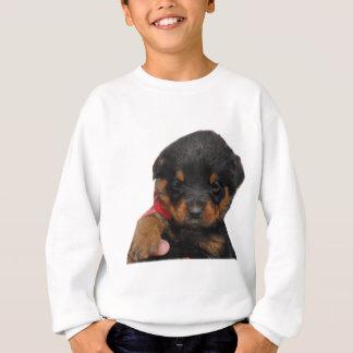 Rouge de chiot de rottweiler sweatshirt