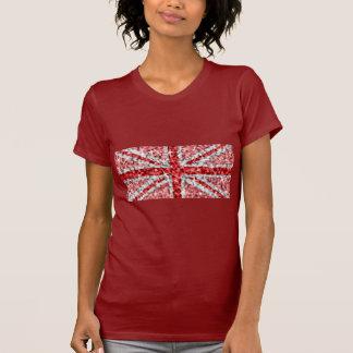 Rouge de dames rouges BRITANNIQUES de T-shirt de