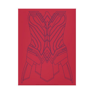 Rouge de femme de merveille et contour d'armure de toile
