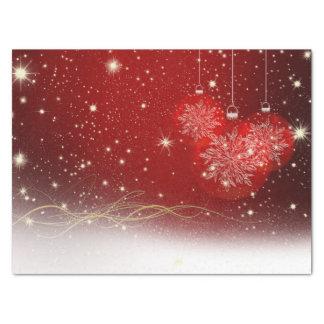 Rouge de fête, blanc et papier de soie de soie de