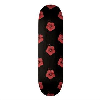 Rouge de l aurore du motif de fleur 3 planches à roulettes customisées