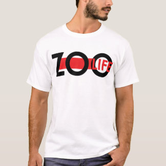ROUGE de la vie de zoo T-shirt
