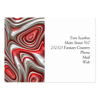 rouge de l'art 9 en métal (i) carte de visite grand format