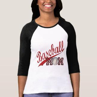 Rouge de maman de base-ball t-shirt