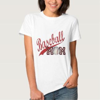 Rouge de maman de base-ball t-shirts