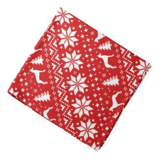Rouge de motif de Noël de silhouettes de chien de Bandana