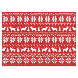 Rouge de motif de Noël de silhouettes de Papier Mousseline