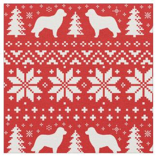 Rouge de motif de Noël de silhouettes de Tissu