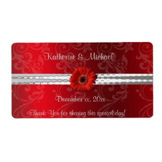Rouge de Noël, étiquette de vin de mariage de