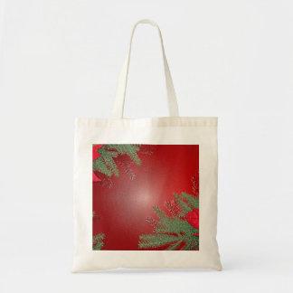 Rouge de poinsettia de Noël Sacs Fourre-tout