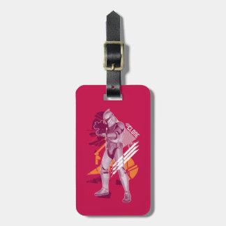 Rouge de soldat de la cavalerie de clone étiquette de bagage