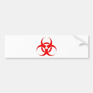 Rouge de symbole de Biohazard Autocollant De Voiture