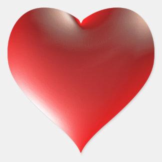 rouge de symbole de coeur du style 3D Autocollant En Cœur
