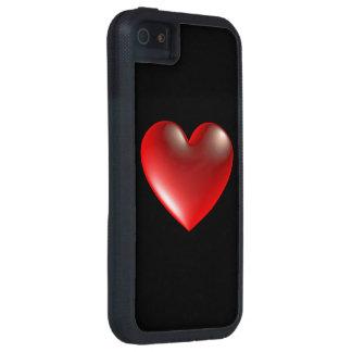 rouge de symbole de coeur du style 3D Coque iPhone 5