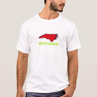 Rouge de T-shirt de la Caroline du Nord