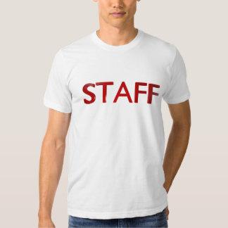 rouge de T-shirt du personnel 3D
