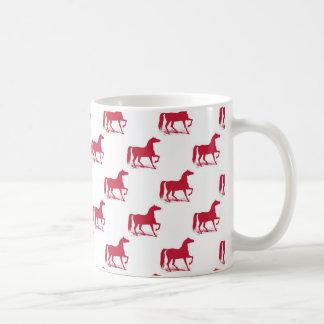 Rouge de tasse de cheval de Noël