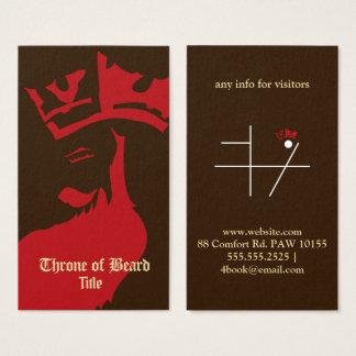 Rouge de trône sur le carte de visite brun foncé