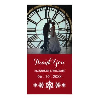 Rouge de vacances avec le mariage élégant d'hiver photocartes