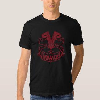 Rouge de Vanwizle de griffonnage T-shirt