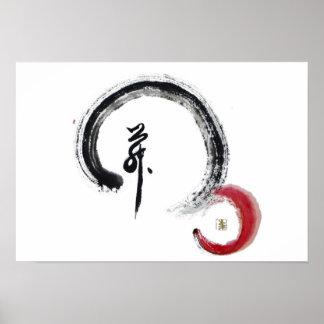 Rouge de zen, Enso Posters