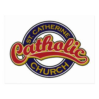 Rouge d'église catholique de St Catherine sur le b Cartes Postales