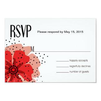Rouge des pavots RSVP de poivre Carton D'invitation 8,89 Cm X 12,70 Cm