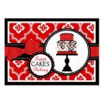 Rouge doux de carte de visite de gâteau